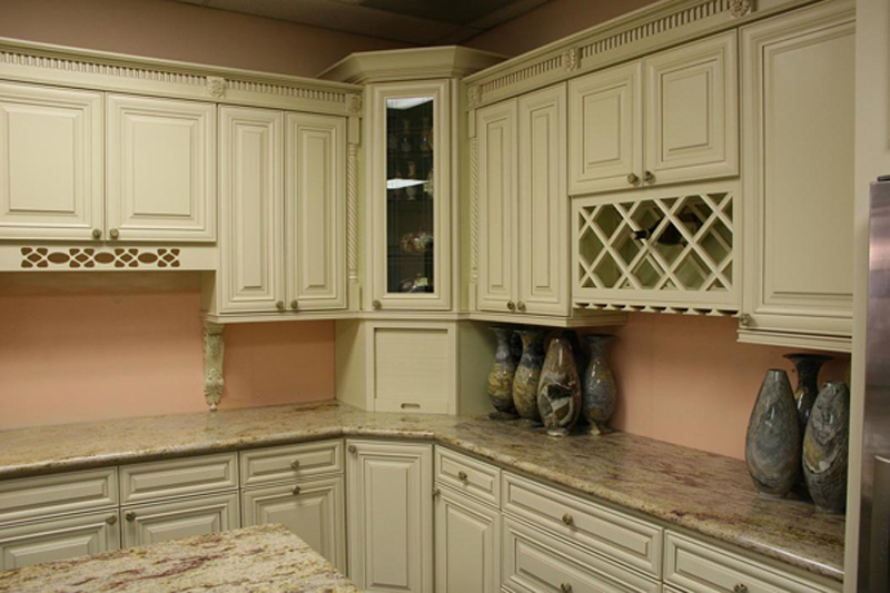 Semi custom door collection cabinets by marciano corp - How to glaze kitchen cabinets cream ...